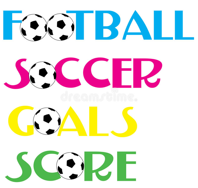 De banners van het Voetbal van de voetbal vector illustratie
