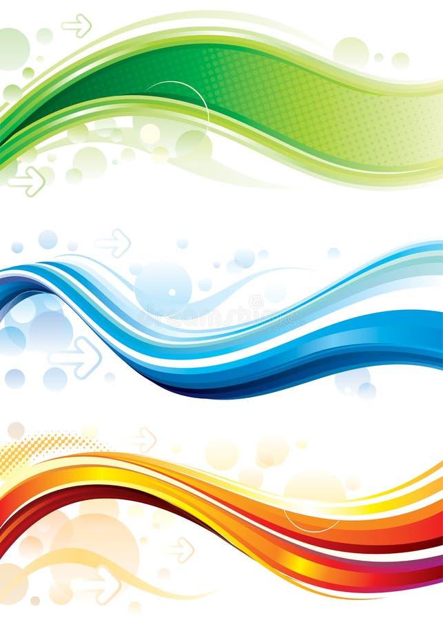 De Banners van het Web stock illustratie