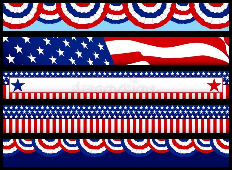 De Banners van het Web van de verkiezing stock illustratie