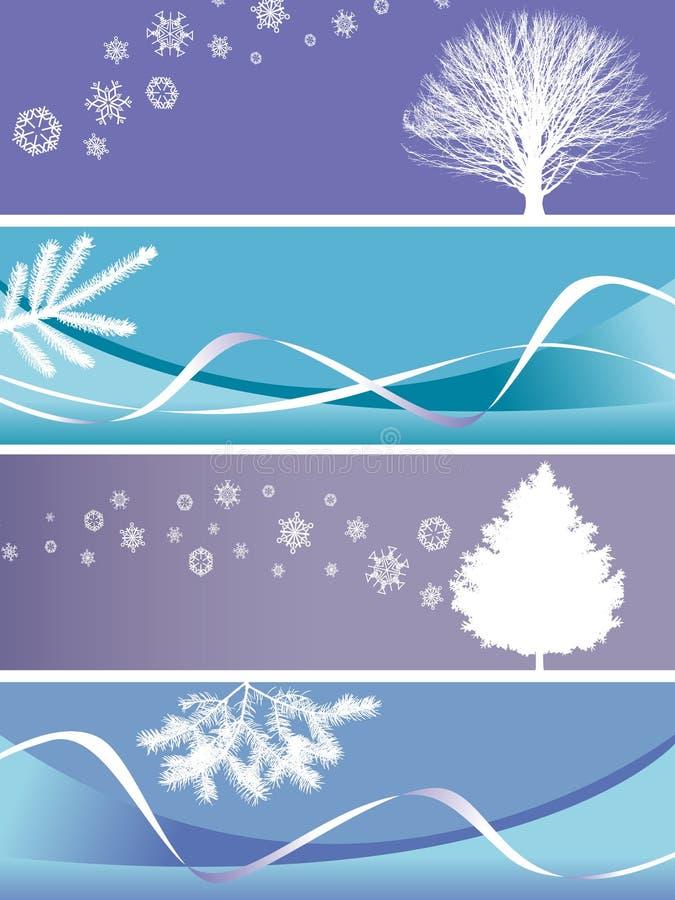 De banners van Kerstmis royalty-vrije illustratie