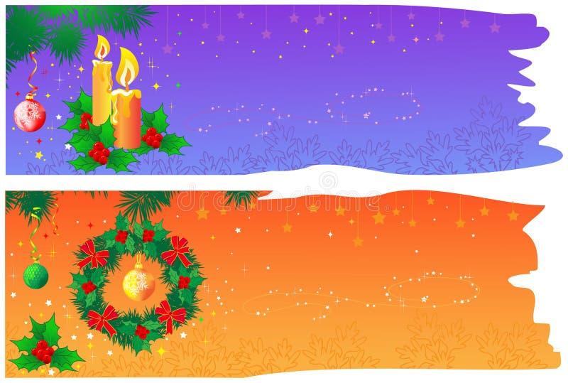 De banners van Kerstmis met ruimte vector illustratie