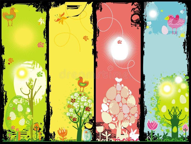 De banners van Pasen grunge vector illustratie