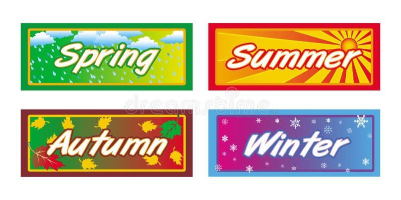 De banners van seizoenen vector illustratie