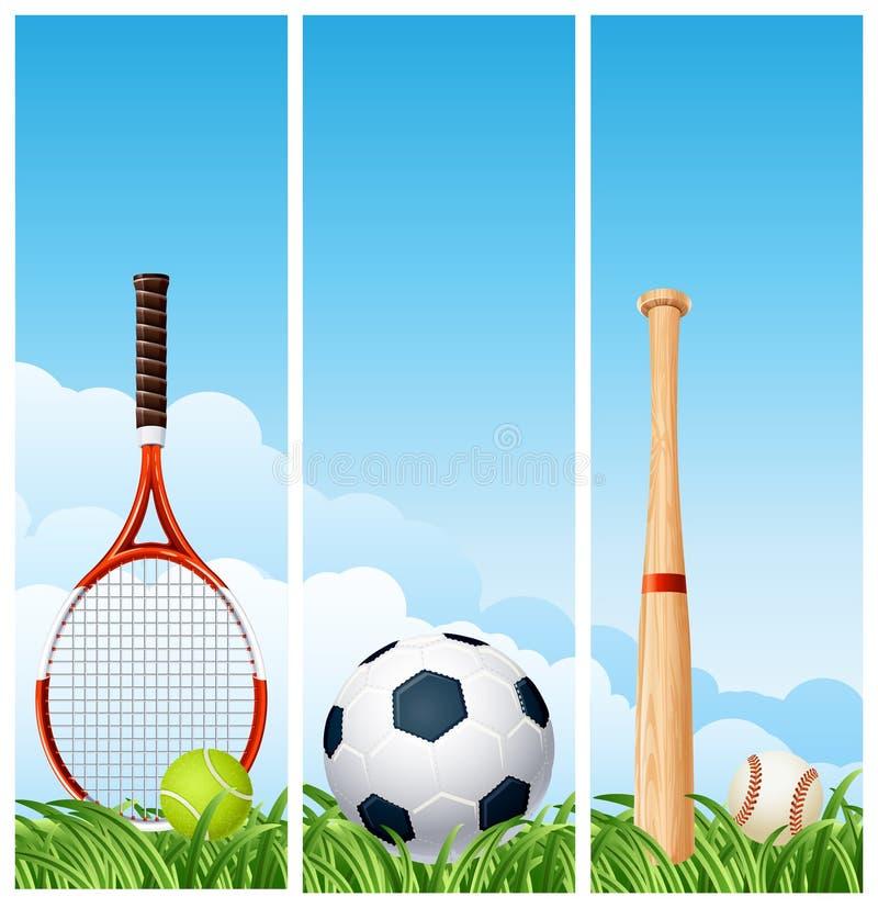 De banners van sporten stock illustratie