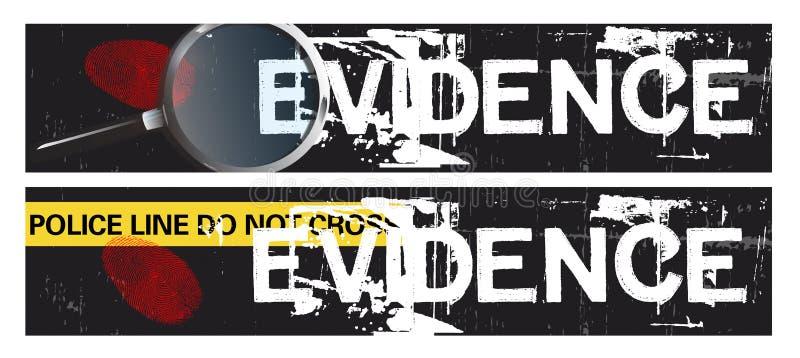 De Banners van Themed van de misdaad stock illustratie