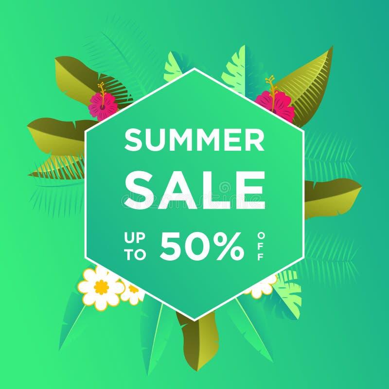 De banners van de de zomerverkoop of kleurrijke ontwerpsjabloon als achtergrond Kan voor affiches, banners, bevorderingen op webs vector illustratie