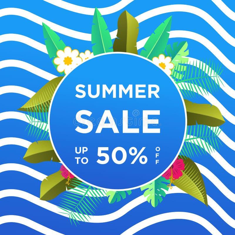 De banners van de de zomerverkoop of kleurrijke ontwerpsjabloon als achtergrond Kan voor affiches, banners, bevorderingen op webs stock illustratie