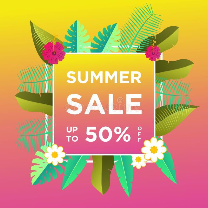 De banners van de de zomerverkoop of kleurrijke ontwerpsjabloon als achtergrond Kan voor affiches, banners, bevorderingen op webs royalty-vrije illustratie