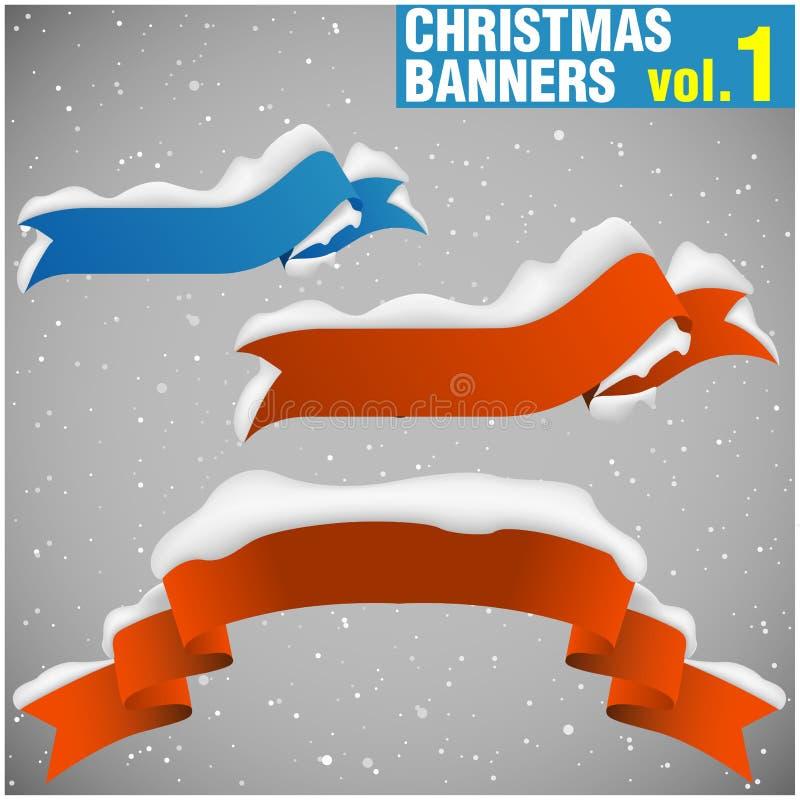 De Banners vol.1 van Kerstmis vector illustratie