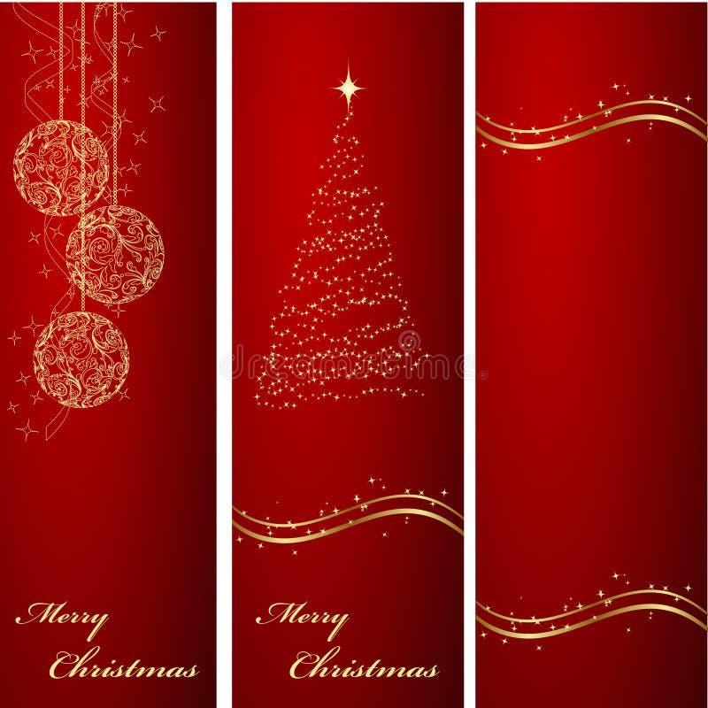 De bannersachtergronden van Kerstmis vector illustratie