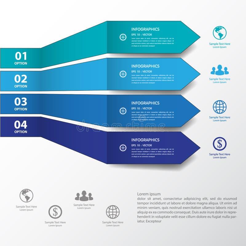 De bannersmalplaatje/grafisch of website van het ontwerp blauw aantal Vector vector illustratie
