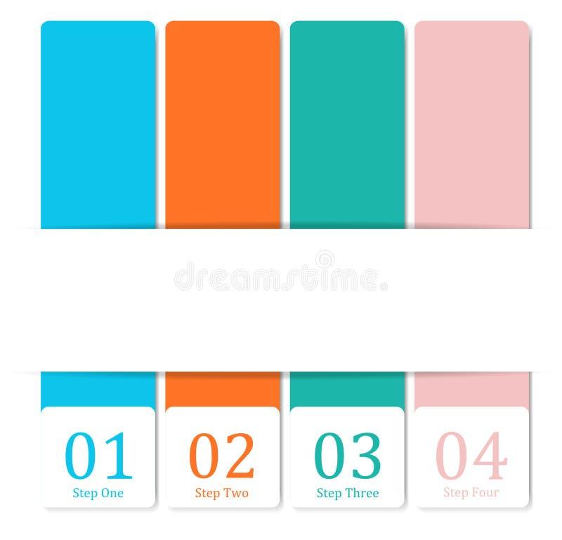 De bannersmalplaatje van het ontwerp schoon aantal vector illustratie