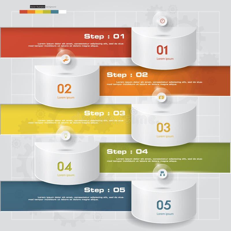 De bannersmalplaatje van het ontwerp schoon aantal Vector stock illustratie
