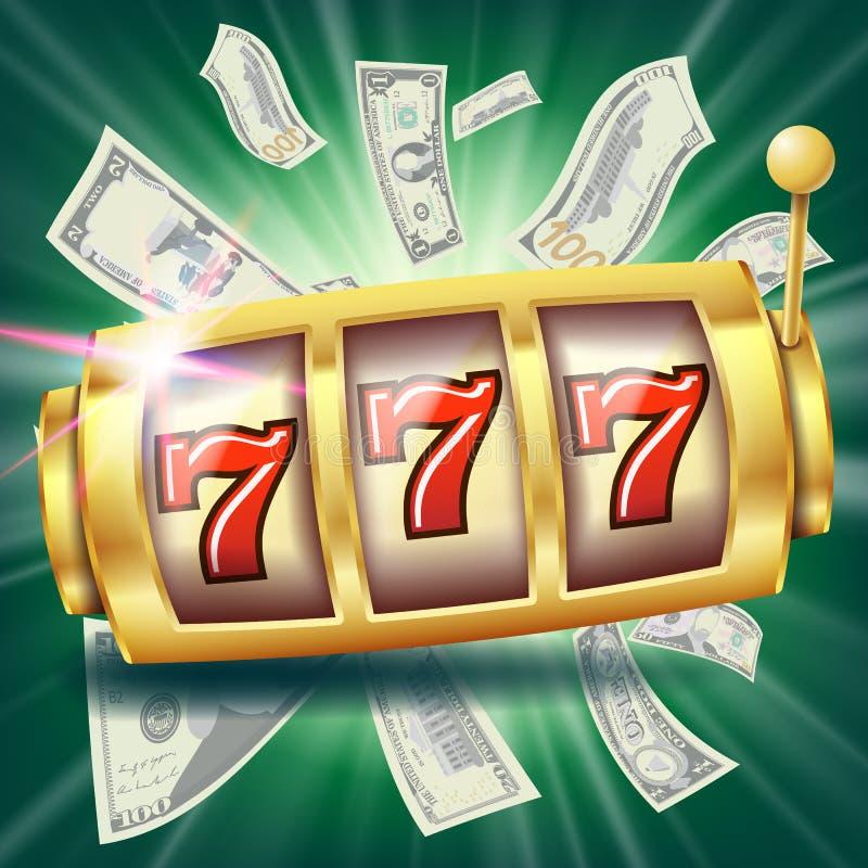 De Bannervector van de casinogokautomaat De pot van de fortuinkans Illustratie stock illustratie