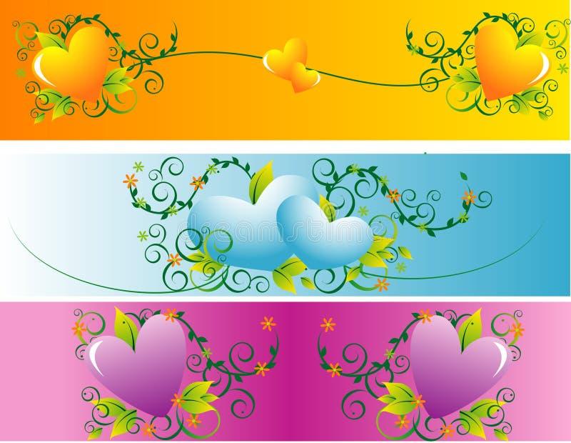 De bannervector van de liefde   royalty-vrije illustratie