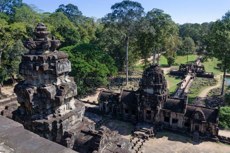 De Baphuontempel in Angkor Thom, Siem oogst, Kambodja royalty-vrije stock foto