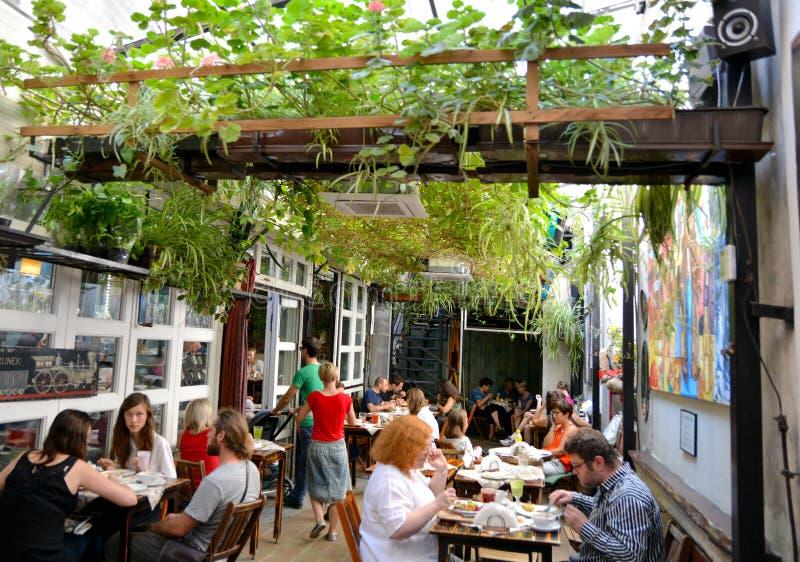 De Bar van de hersenschimsalade, Krakau stock fotografie