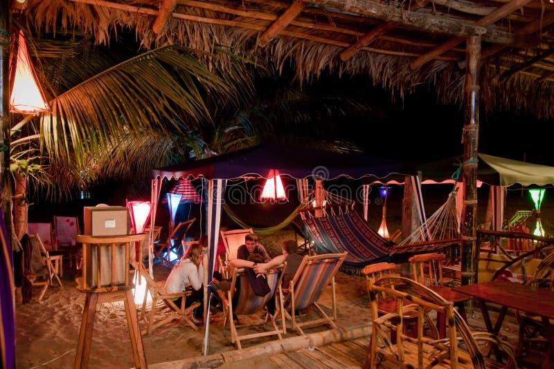 De bar van het bungalowstrand in Puerto Lopez, Manabi stock foto