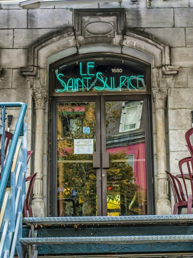 De bar van le Saint-Sulpice stock foto