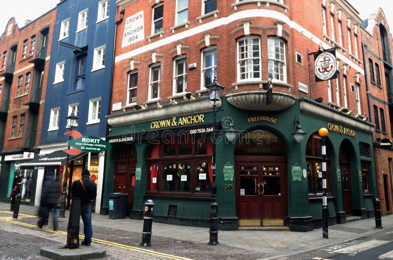 De bar van Londen stock afbeelding