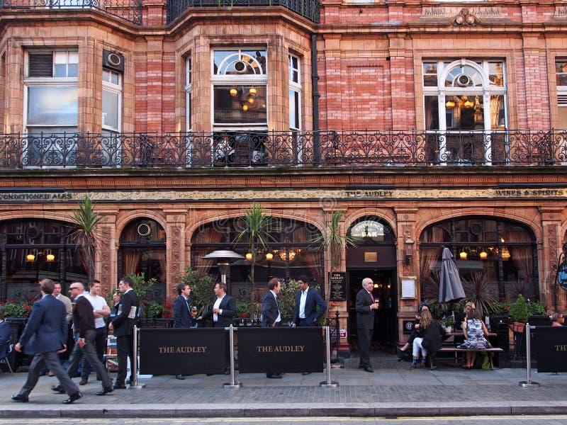 De Bar van Londen, Mayfair royalty-vrije stock foto's