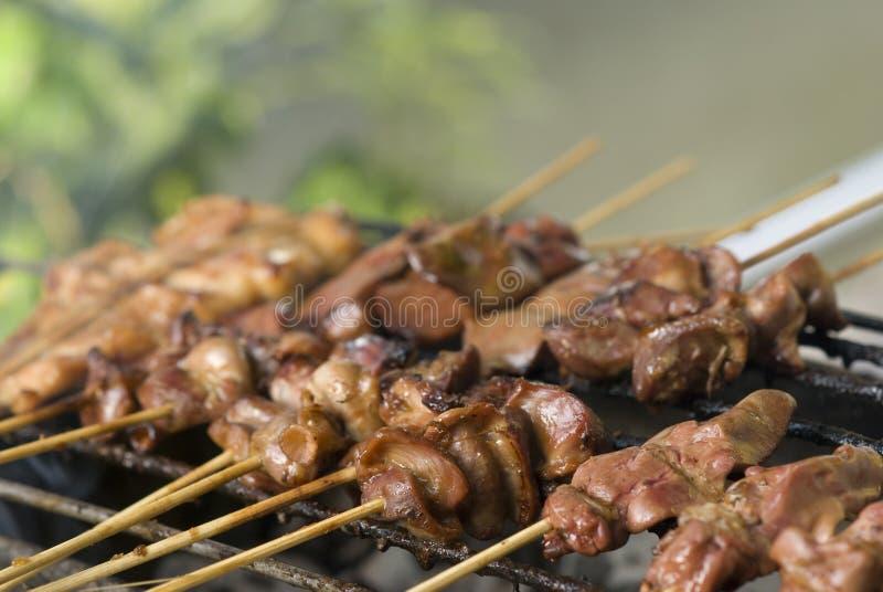 De barbecue van de straat in Bangkok royalty-vrije stock afbeelding