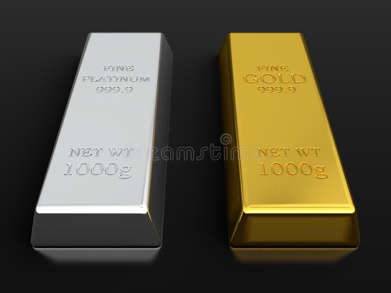 De baren van het goud en van het platina vector illustratie