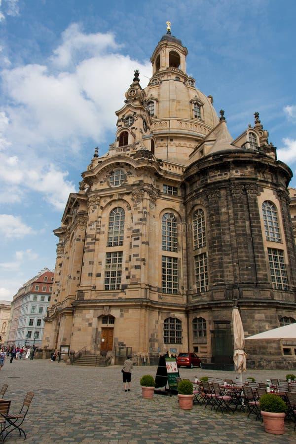 De barokke Kathedraal van Dresden royalty-vrije stock afbeeldingen