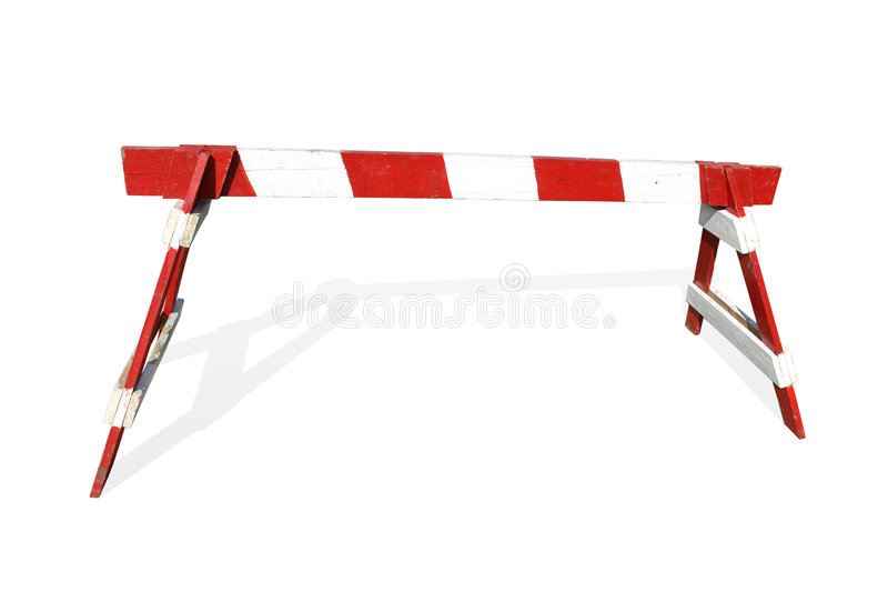 De barrière van de houtconstructie stock foto's