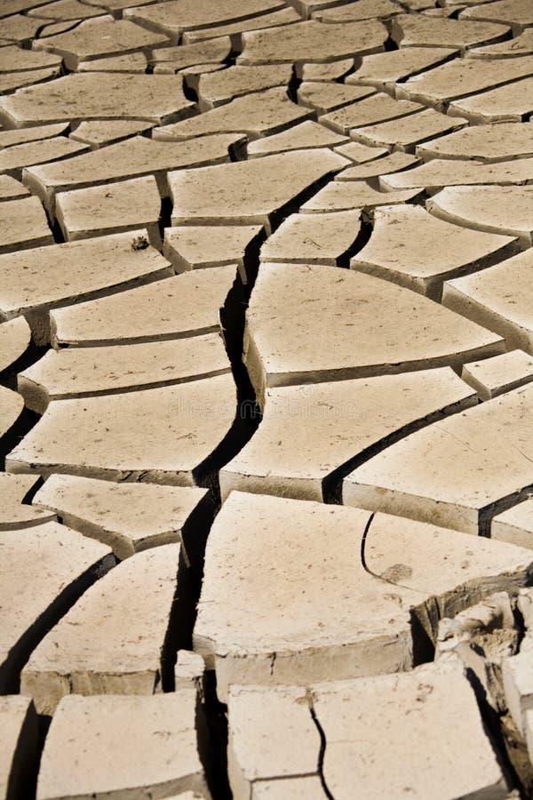 De Barsten van de modder stock afbeeldingen