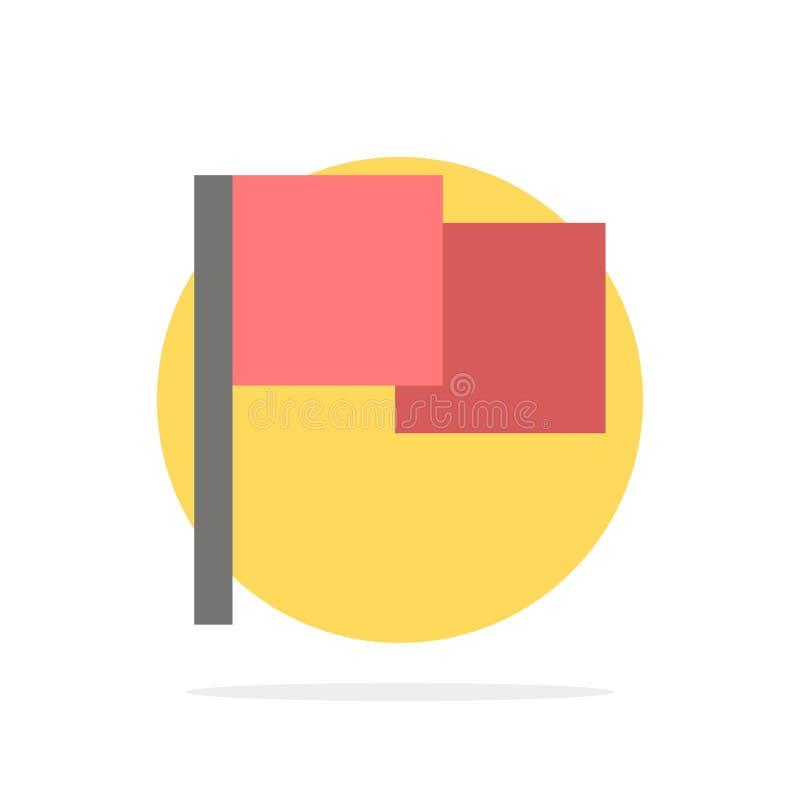 De base, drapeau, icône plate de couleur de fond abstrait de cercle d'Ui illustration stock