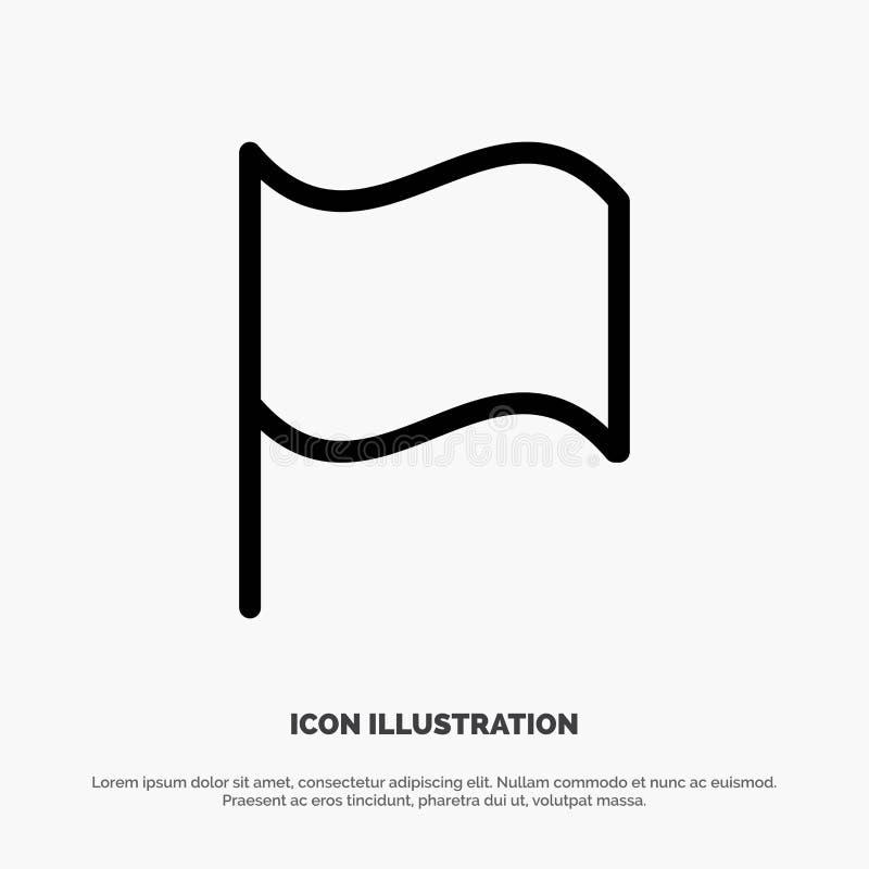 De base, drapeau, ligne vecteur d'Ui d'icône illustration stock