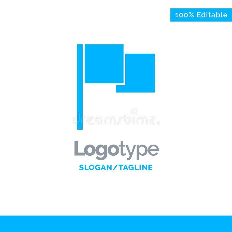 De base, drapeau, Ui Logo Template solide bleu Endroit pour le Tagline illustration de vecteur