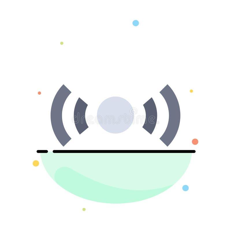 De base, essentiel, signal, Ui, calibre plat d'icône de couleur d'abrégé sur Ux illustration libre de droits