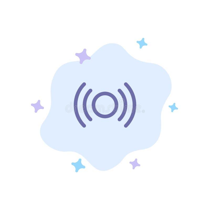 De base, essentiel, signal, Ui, icône bleue d'Ux sur le fond abstrait de nuage illustration de vecteur