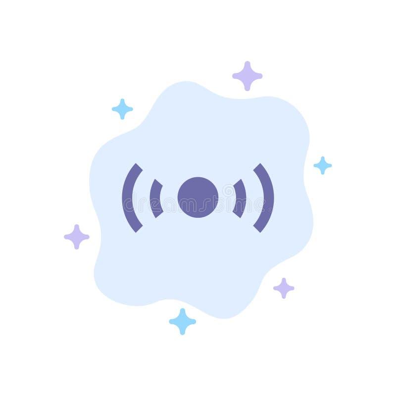 De base, essentiel, signal, Ui, icône bleue d'Ux sur le fond abstrait de nuage illustration stock