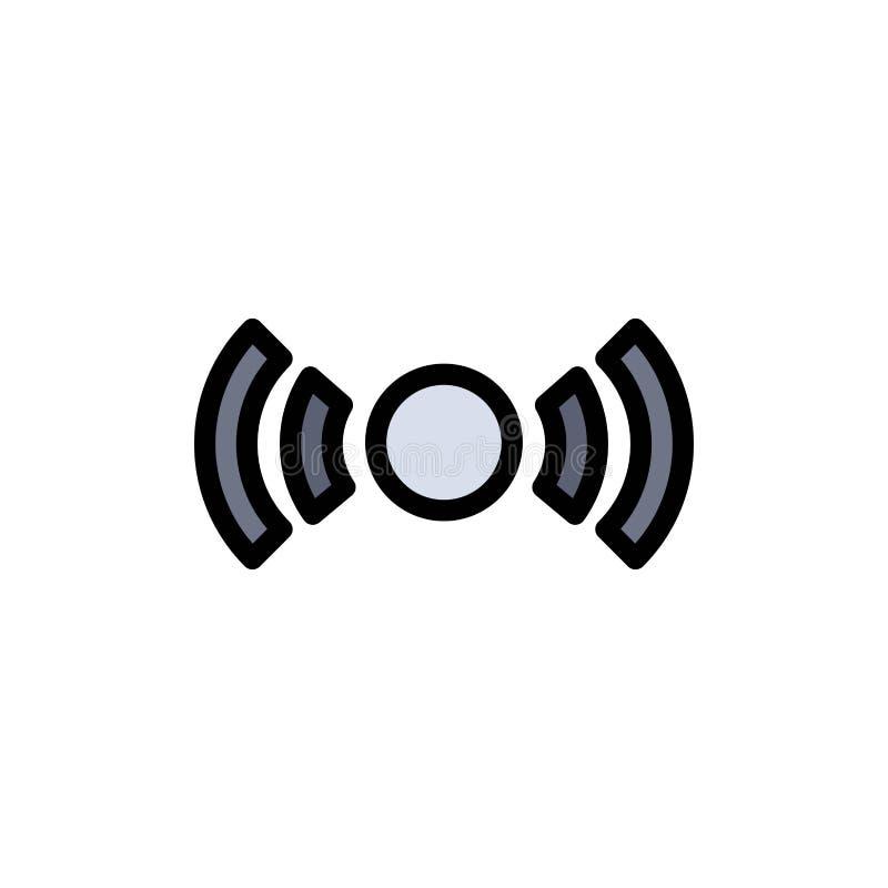 De base, essentiel, signal, Ui, icône plate de couleur d'Ux Calibre de bannière d'icône de vecteur illustration de vecteur