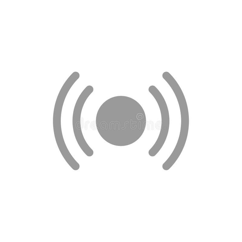 De base, essentiel, signal, Ui, icône plate de couleur d'Ux Calibre de bannière d'icône de vecteur illustration stock