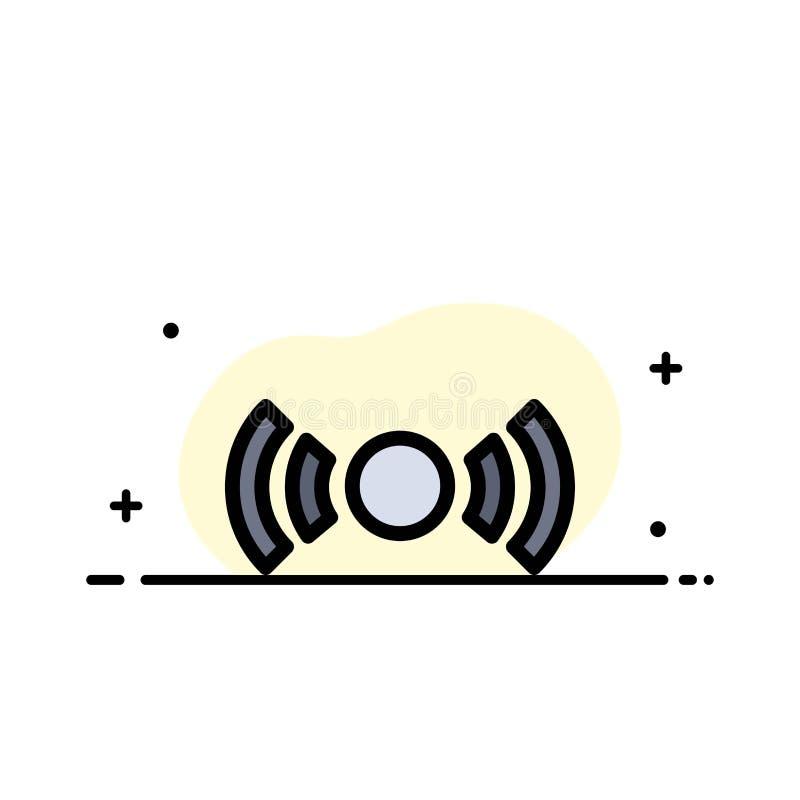 De base, essentiel, signal, Ui, ligne plate d'affaires d'Ux a rempli calibre de bannière de vecteur d'icône illustration de vecteur