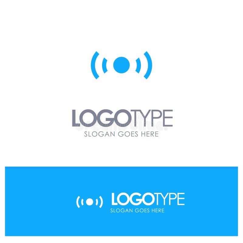 De base, essentiel, signal, Ui, logo solide bleu d'Ux avec l'endroit pour le tagline illustration libre de droits
