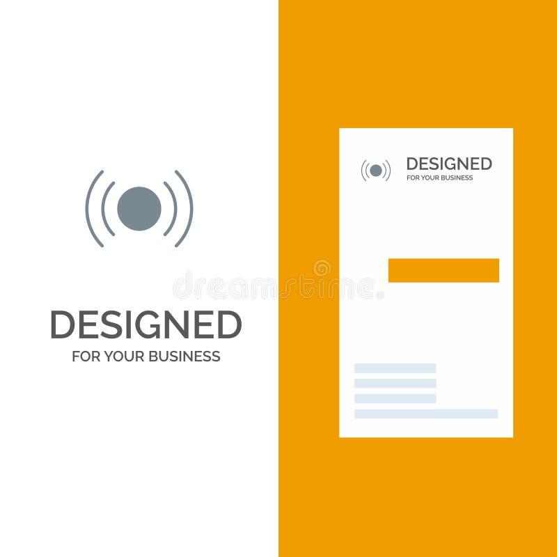 De base, essentiel, signal, Ui, Ux Grey Logo Design et calibre de carte de visite professionnelle de visite illustration de vecteur