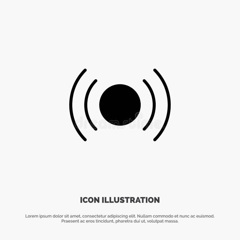 De base, essentiel, signal, Ui, vecteur solide d'icône de Glyph d'Ux illustration libre de droits