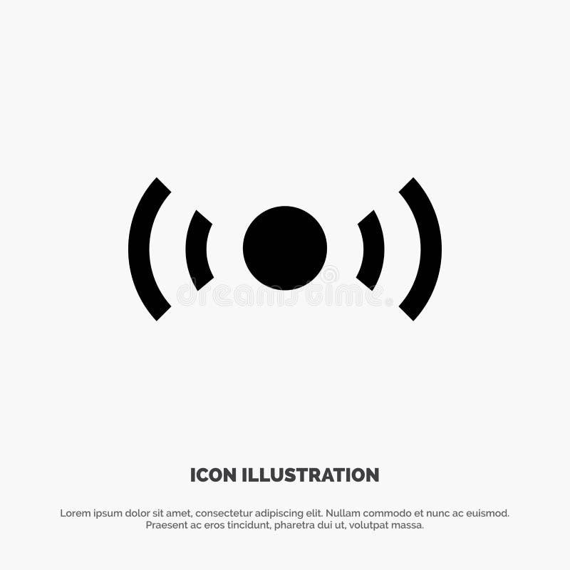 De base, essentiel, signal, Ui, vecteur solide d'icône de Glyph d'Ux illustration de vecteur