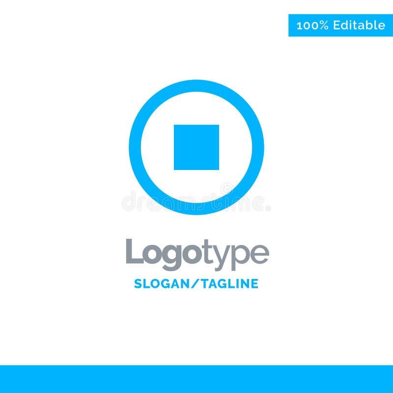 De base, interface, utilisateur Logo Template solide bleu Endroit pour le Tagline illustration de vecteur
