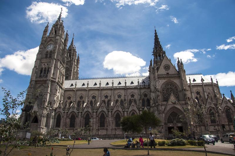 De Basiliek, Quito royalty-vrije stock foto