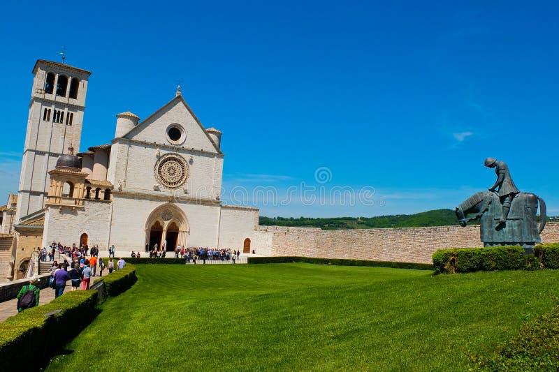 De basiliek van Assisi stock afbeelding