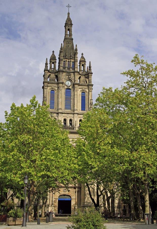 De Basiliek van Begona in stad Bilbao royalty-vrije stock afbeelding
