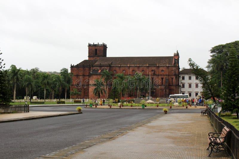 De Basiliek van Bom Jesus die van Oude Goa Goa Velha, BO huisvesten stock afbeeldingen