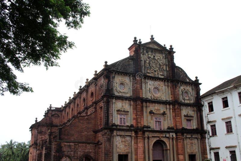 De Basiliek van Bom Jesus die van Oude Goa Goa Velha, BO huisvesten stock foto's