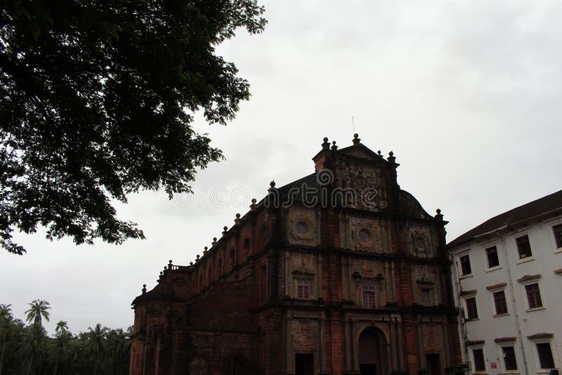 De Basiliek van Bom Jesus die van Oude Goa Goa Velha, BO huisvesten royalty-vrije stock fotografie